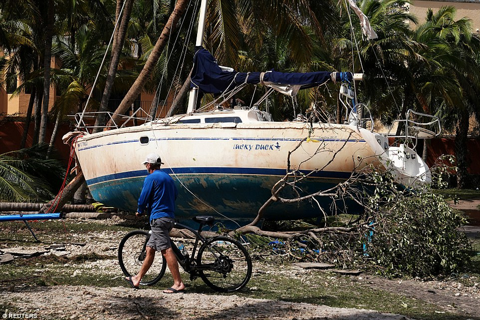 Wrecked boats that have come ashore are pictured in Coconut Grove following Hurricane Irma in Miami, Florida, U.S., September 11, 2017