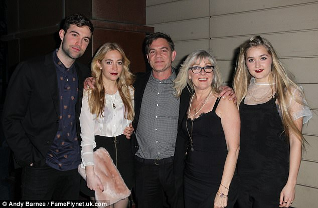 (Left to right) Sam, Daisy and John Michie, Carol Fletcher and Louella Michie Celebrities arrive at David Gest's Celebrity Dinner Party at the Tower Hilton on Tooley Street, London, in April 2015