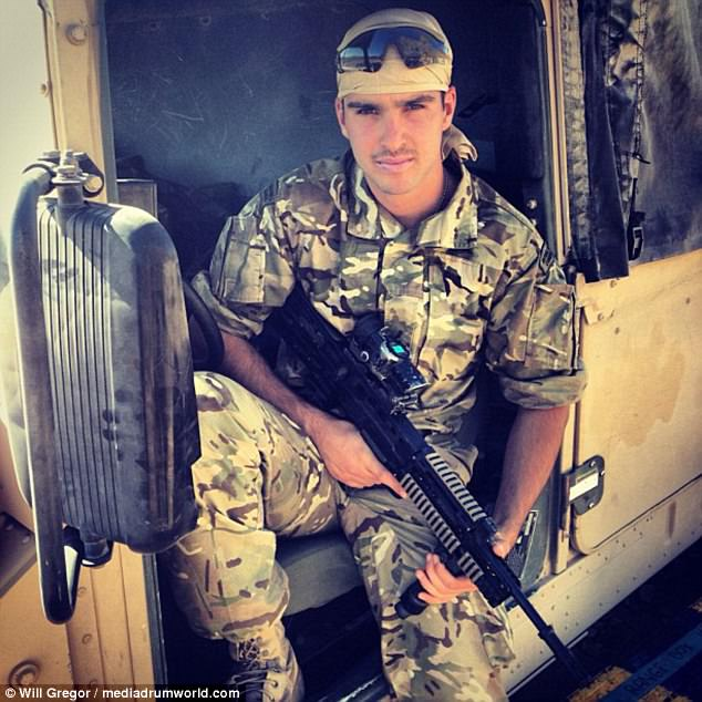 Will on duty as a Royal Marines Commando before he left to pursue his love of travel and study