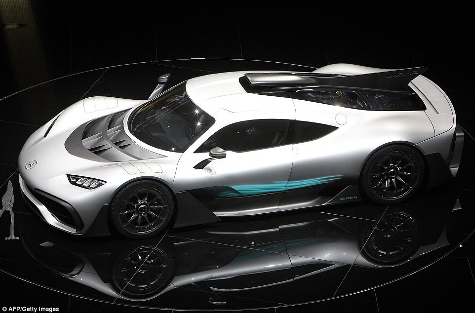 The two-seat hybrid has over 1,000 horsepower, a top speed of 217 mph and can go from 0-124mph in less than six seconds