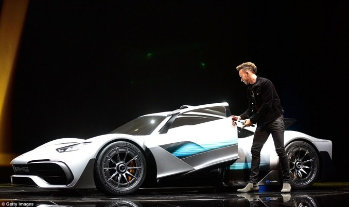 The British Mercedes driver, who is currently top of the F1 drivers' standings, showed off the impressive hybrid