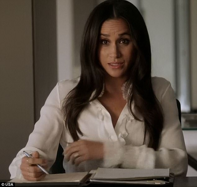 Feisty side: Meghan Markle, who is dating Prince Harry, showed her feisty side while playing lawyer Rachel Zane on Wednesday's episode of Suits