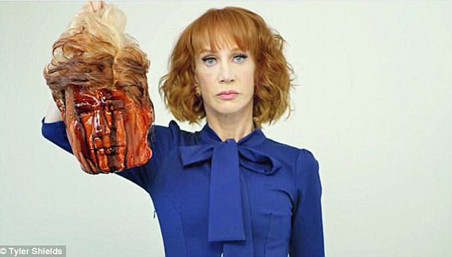 Image result for images of kathy griffin trump's head