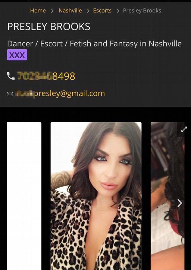 The Woman In The Ad Is Described As A Dancer And Escort Who Is