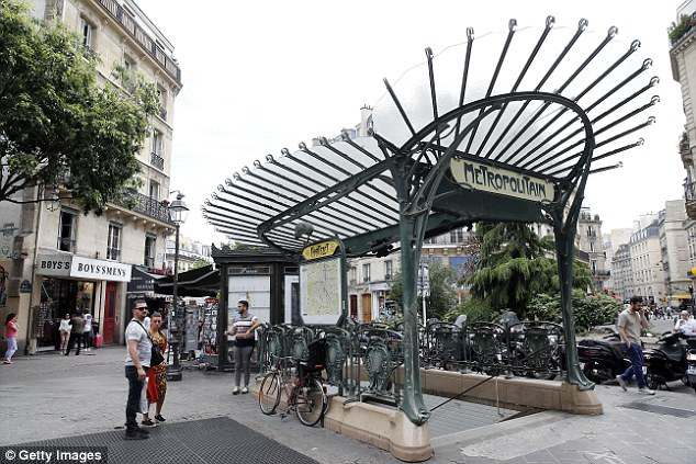 The attacker approached the soldier from behind and then lunged at him with the blade at Chatelet metro station (file picture) at 6.30am this morning while praising Allah