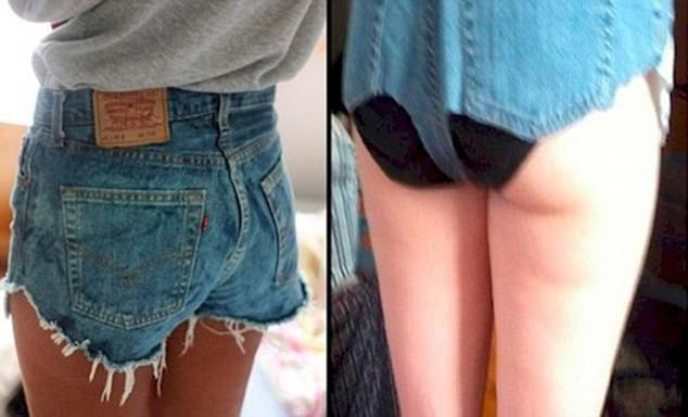 Dare to bare:Shoppers shared the evidence you should never shop online - including some very racy clothing