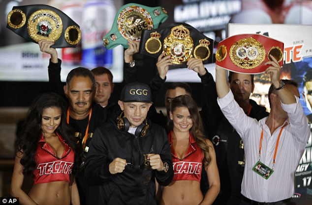 The Mexican will still have Golovkin's WBA, IBO and IBF titles available if he is victorious
