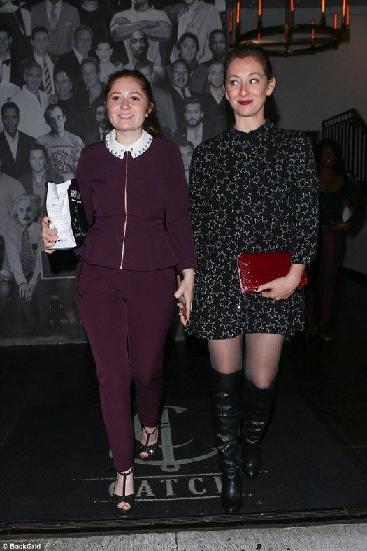 Birthday girl! Emma Kenney (left) arrived for her own bash with co-star Isidora Goreshter