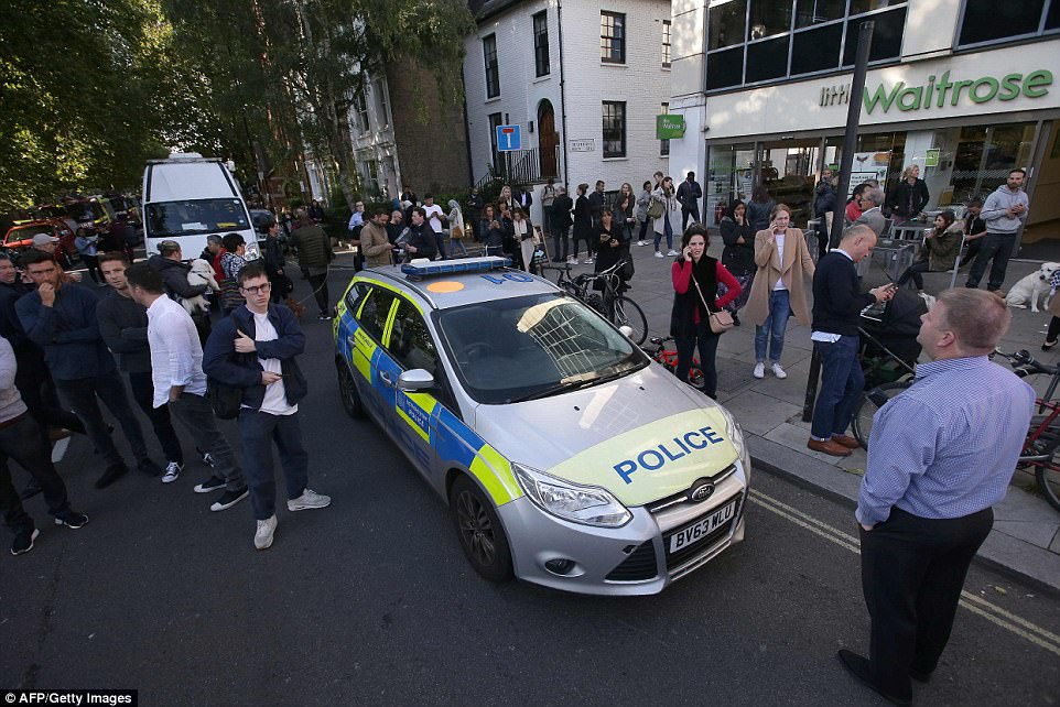 Armed Police, paramedics and firefighters were all said to be at the west London station within five minutes of the explosion