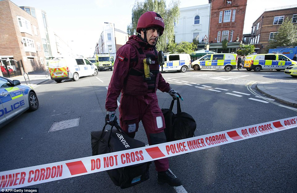 Bomb disposal experts are among emergency services at the scene amid fears of more bombs