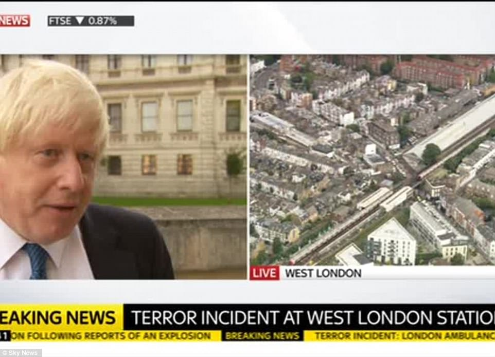 Speaking this morning, government minister Boris Johnson called on people to remain calm