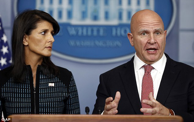 U.S. National Security Advisor H.R. McMaster (right) told reporters at the White House on Friday that Trump wasn't speaking about any particular terror suspect when he claimed Scotland Yard had already had Friday's Tube bomber on its radar