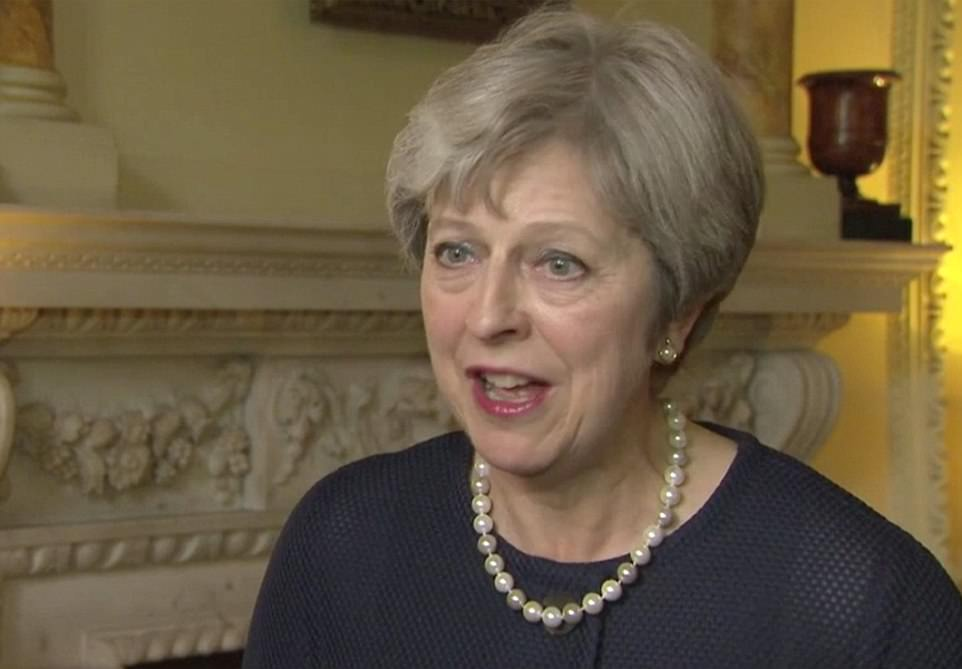 Theresa May gave a statement from within Downing Street in which she announced the terror threat level would be raised to critical, its highest level