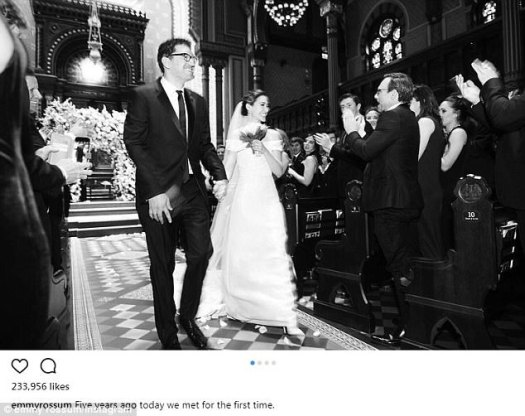 Romance: Earlier in the day, Emmy had finally shared images from her May wedding to Esmail.