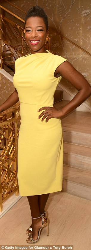 Wanda Sykes chose a white top and black pants while Samira Wiley stood out in yellow