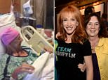 Kathy Griffin posted a video of her sister Joyce smiling in the hospital while people sang to her