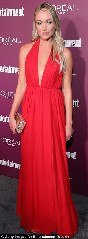 Red hot:Danielle Panabaker and Katrina Bowden vied for best dressed in red
