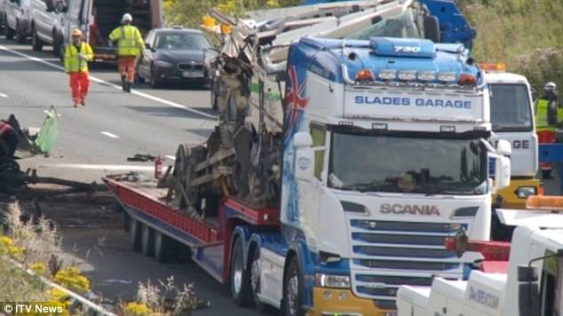 The M5 has been closed in both directions following a 'horror crash' involving a lorry