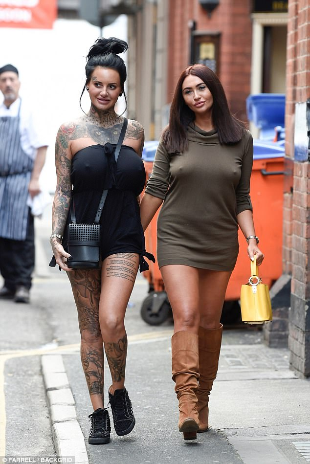 Legs eleven!Showing off her surgically enhanced figure, the 29-year-old reality star turned heads in a tiny black playsuit that offered a look at her heavily-inked legs