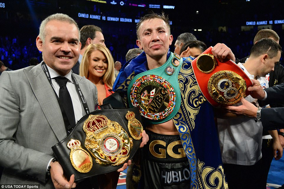 Gennady Golovkin retained his IBF, WBA and WBC titles on Saturday night as his fight with Canelo Alvarez ended in a draw