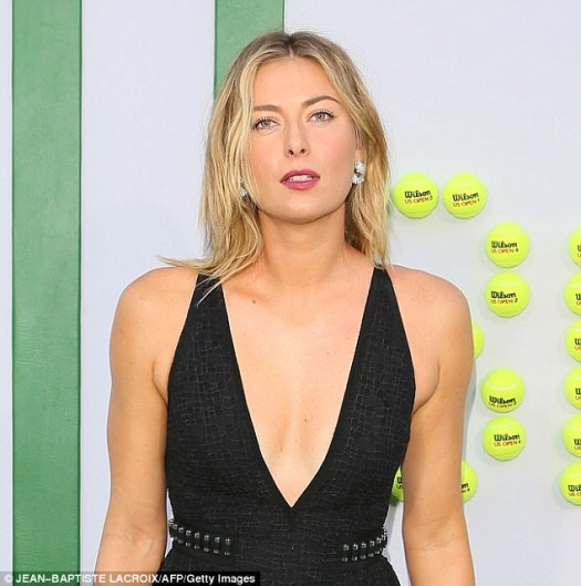 Unstoppable: Maria temporarily lost sponsorships last year following her World Anti-Doping Agency substance controversy from taking the  heartdrug mildronate/meldonium