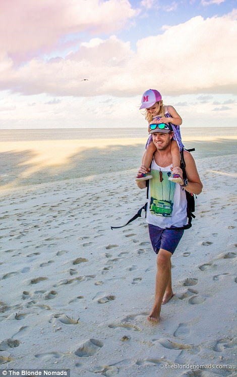 For families who are interested to leave the rat race to go travelling full-time with their children, the couple advises: 'If you want to do it, find a way to make it work'