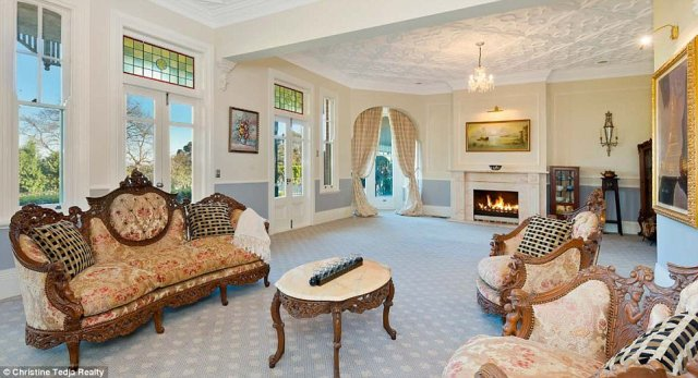 Elegant: Named 'Barkstone,' the property was built in 1906 and sits on a 3939-square-metre block.