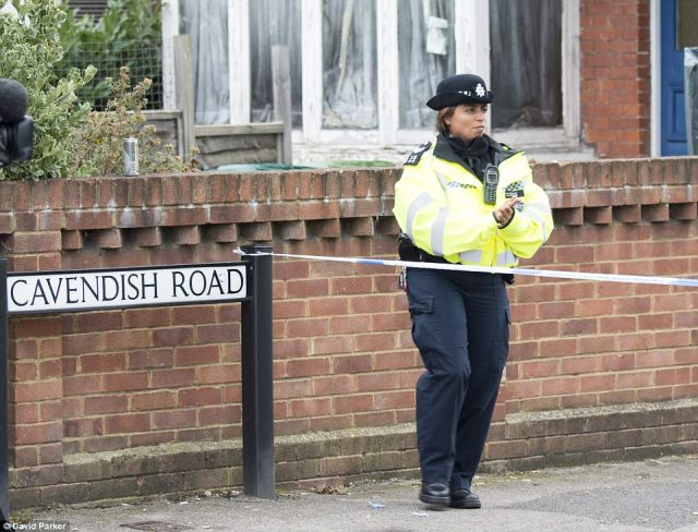 Police are still searching a property in Sunbury-on-Thames, Surrey, raided yesterday in connection with the attack