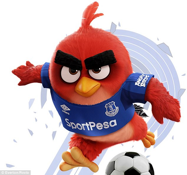 Everton have signed a partnership that will see them wear Angry Birds on their shirt sleeves