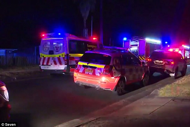 Emergency services were called to the home of Graham Wells, 75, in Leumeah around 11pm Saturday