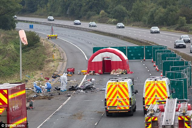Motorists were stuck on the road for hours and emergency services were on the scene with queues reaching back six miles, according to some reports