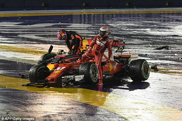 The first lap chaos, started with theRaikkonen collision handed Lewis Hamilton the advantage