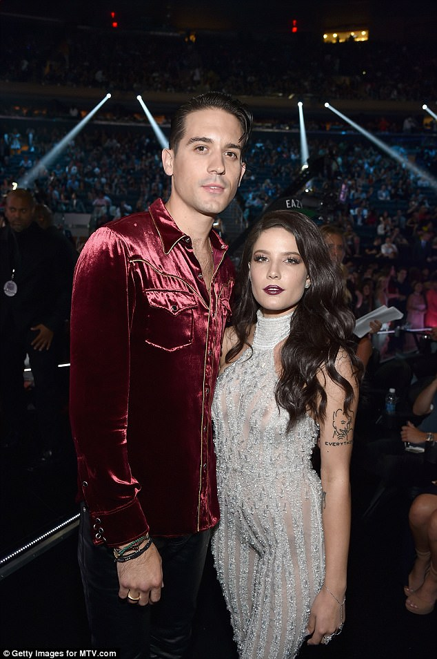 New gal:he has moved on with another singer, Halsey. And it isn't only in the musician's affections that Halsey has replaced Lana as she's also providing vocals on his track Him And I. Seen in August
