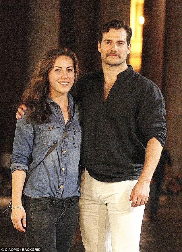 Power couple: Superman star Henry Cavill and his new stunt-woman girlfriend Lucy Cork were taking a break from action and focusing purely on adventure as they continued to enjoy their stay in Rome