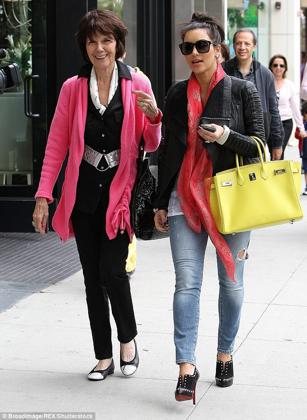 Retail therapy: Kim Kardashian and MJ enjoyed a shopping spree in Beverly Hills in June 2011