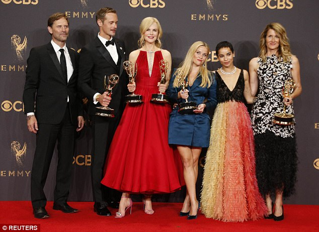Winning! Big Little Lies took home a total of five Emmys on Sunday night, including outstanding limited series