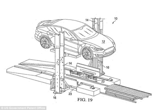 Tesla patents robot that can swap car batteries in 15min