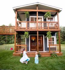 Michigan Dad Builds Two-story Playhouse Daughters