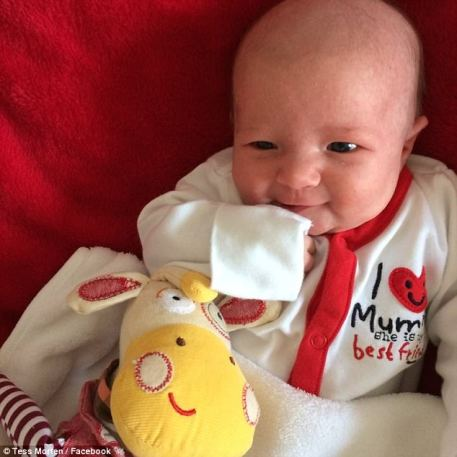 In January this year, she gave birth to Molly at the Royal Berkshire Hospital, who came out weighing healthy 7lb 14oz