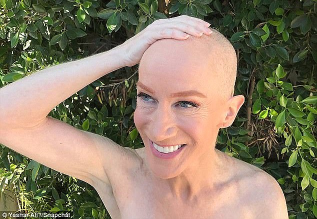 The 56-year-old shaved her head in July in support of sister, Joyce, who was battling cancer. She died on Thursday