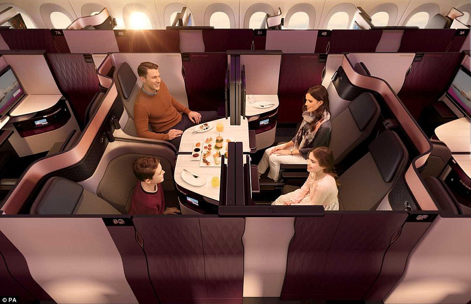 Social: Passengers travelling together can also transform their seats to form a private area
