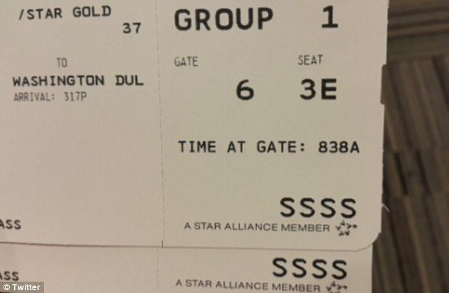 Spotting the code 'SSSS' (pictured) on your boarding pass could throw a wrench in any traveller's plans