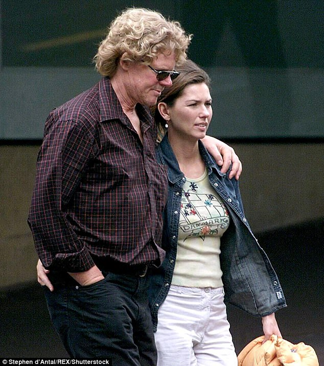 Shocking betrayal: Shania also opened up on discovering her husband of fifteen years Robert Lange (pictured) was allegedly cheating on her as her condition was worsening in 2008