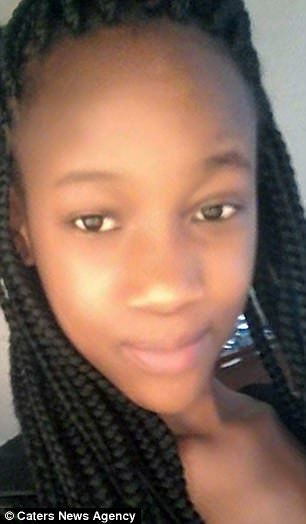 Faith Chando, who inherited her mother's skin tone