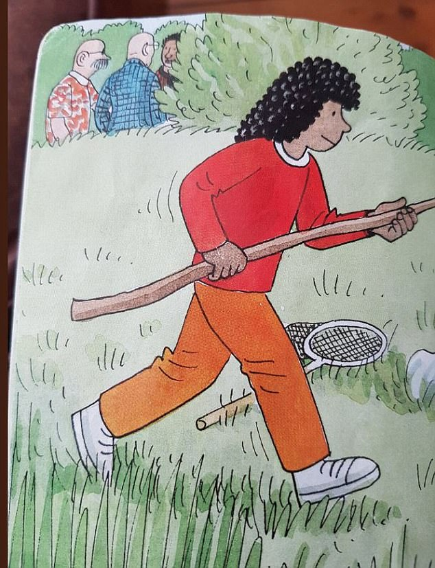 Going al fresco? Ed Brody tweeted a photo of the Biff, Chip and Kipper books with something strange going on in the background of one page