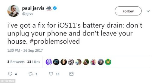 Since the new operating system first rolled out, unhappy users have made one thing clear ¿ iOS 11 is a battery life killer