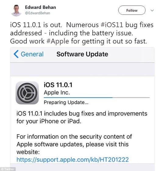 While it remains unclear which bugs have specifically been addressed, some iPhone users have reported that the improvements so far appear to include the battery life issue