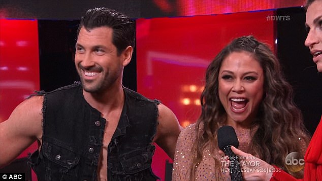 She's a contender: Maks and Vanessa received 23 points out of 30 for their routine