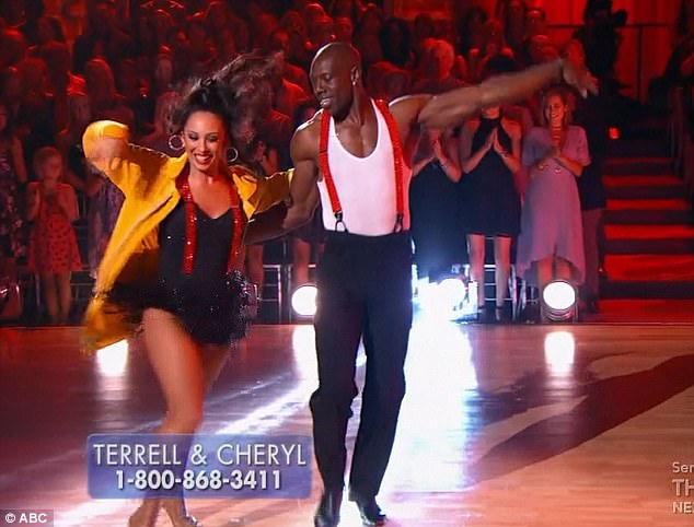 Samba number: Cheryl Burke and Terrell performed a samba together