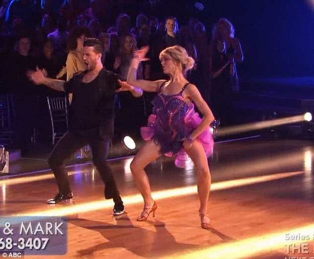 Fresh salsa: Lindsey Stirling and Mark Ballas performed a salsa dance together
